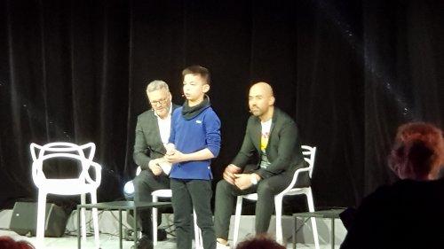 Noa en compagnie de David Lefrançois et Yannick ALAIN