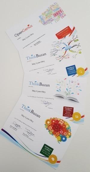 4 Diplomes Tony Buzan