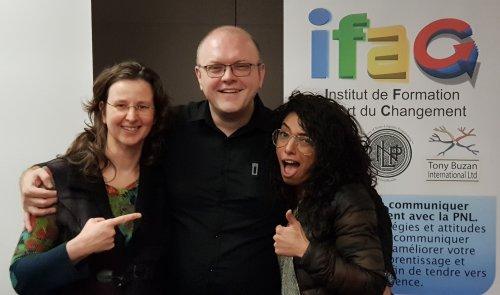 Me voici en bonne compagnie avec Michel WOZNIAK et Sarah LACHOUB